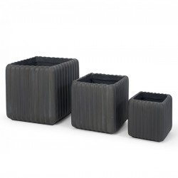 Set 3 Vasos Cinza IT96 - Eletronet
