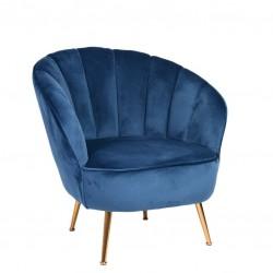 Sofa 1 Lug. Veludo Azul IT892 - Eletronet