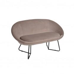 Sofa 2 Lug. Veludo Bege IT907 - Eletronet