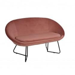 Sofa 2 Lug. Veludo Rosa IT908 - Eletronet