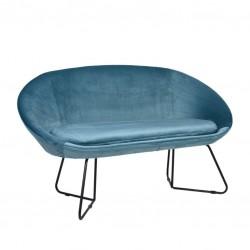 Sofa 2 Lug. Veludo Azul IT912 - Eletronet