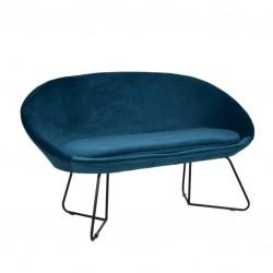 Sofa 2 Lug. Veludo Azul IT913 - Eletronet