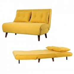 Sofá 2L Tecido Amarelo SD2074 - Eletronet
